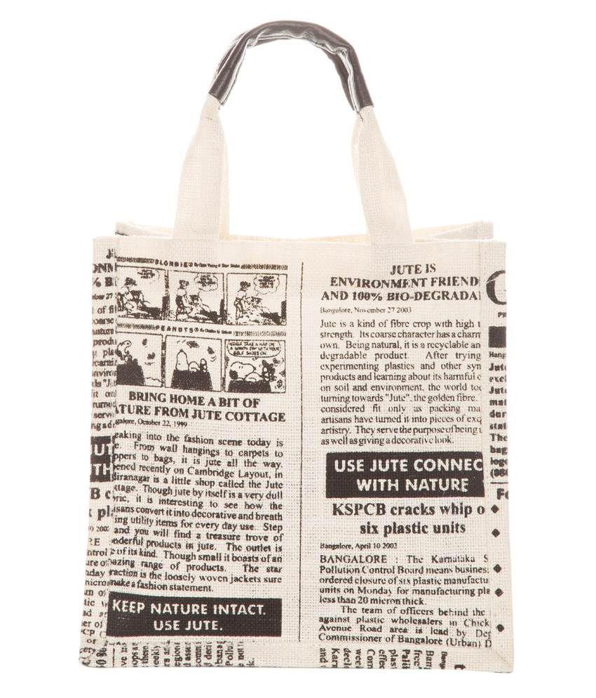 Buy Jute Cottage White Jute Global Medium Shoulder Bag At Best