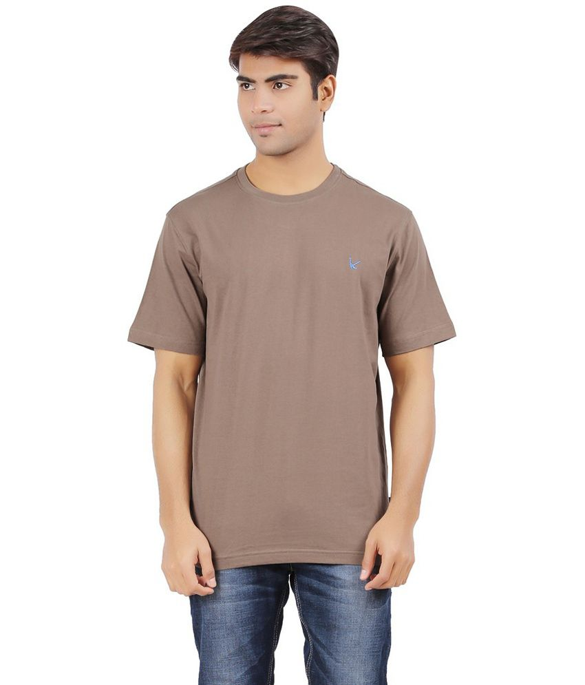 Mr.tee Brown Cotton Round Neck