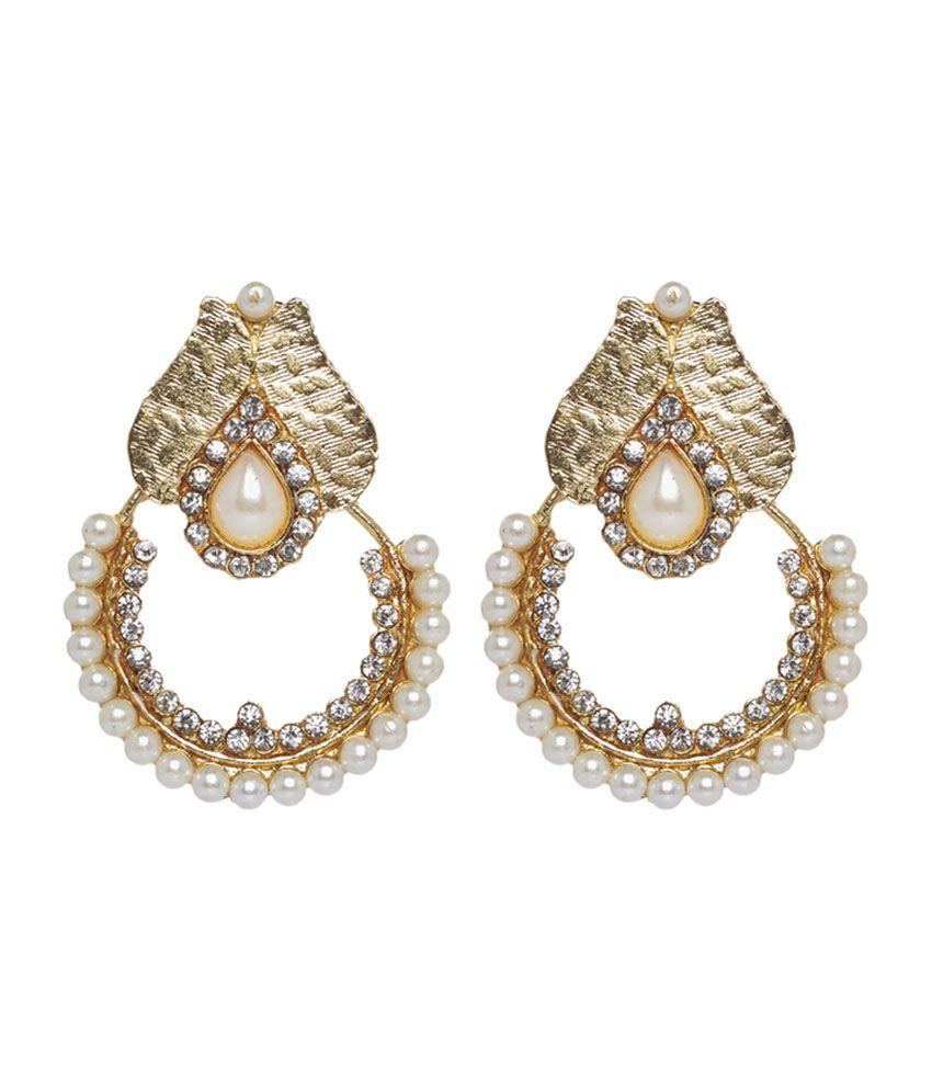 utsokt gold kundan earrings buy utsokt gold kundan