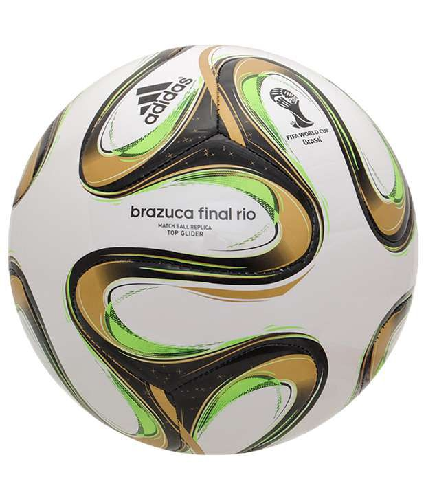 39b8929c87 ... Adidas Brazuca Wc Finals Top Glide Replica White   Green Football ...
