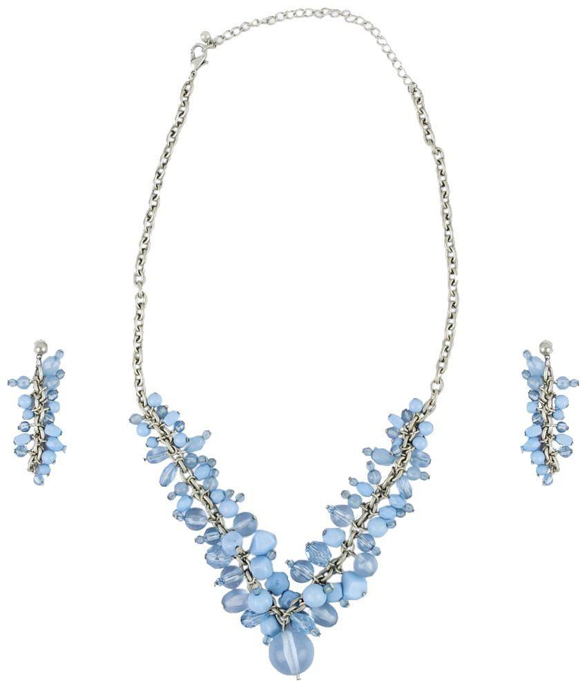 Ajara Blue Crystal Necklace Set