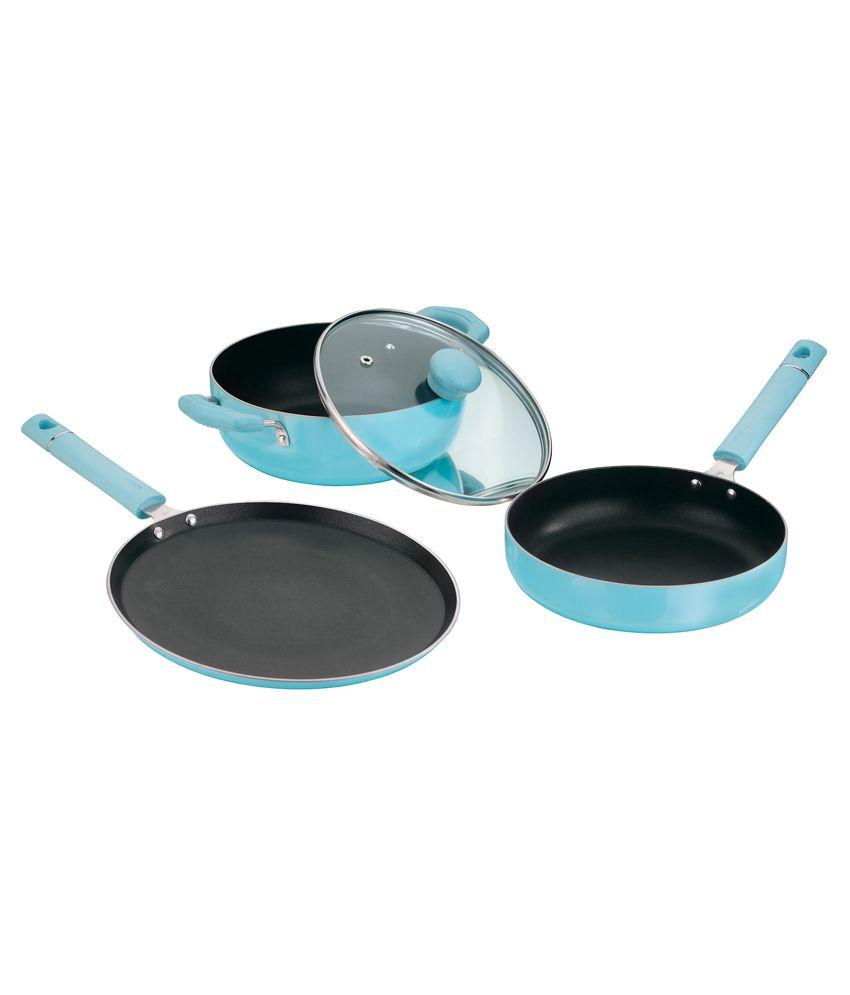 Non Stick Kitchen Set With Price: Kitchen Essentials Non-stick Cookware Set (4 Pcs): Buy