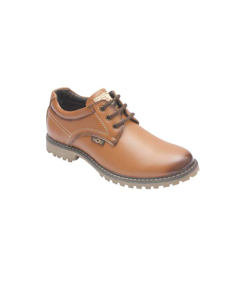 Bob Tan Synthetic Leather Lace Designer Boot