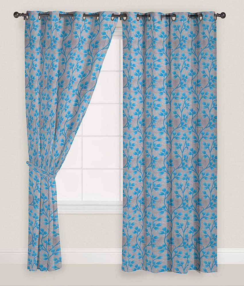 Presto Set of 2 Window Eyelet Curtains Floral - Buy Presto ...