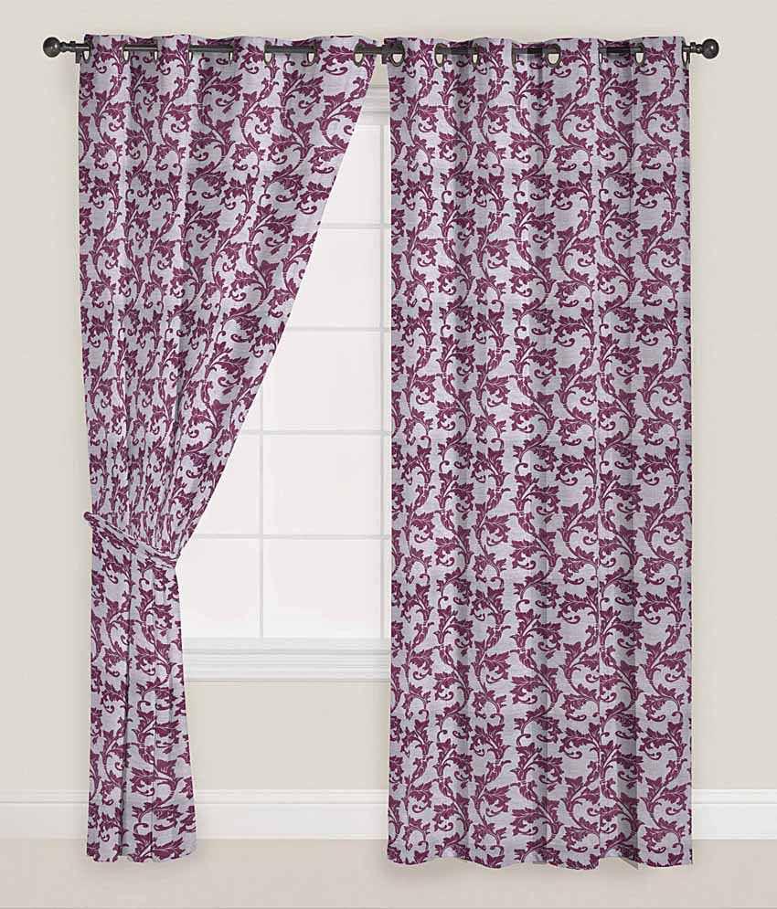 Presto Set of 2 Door Eyelet Curtains