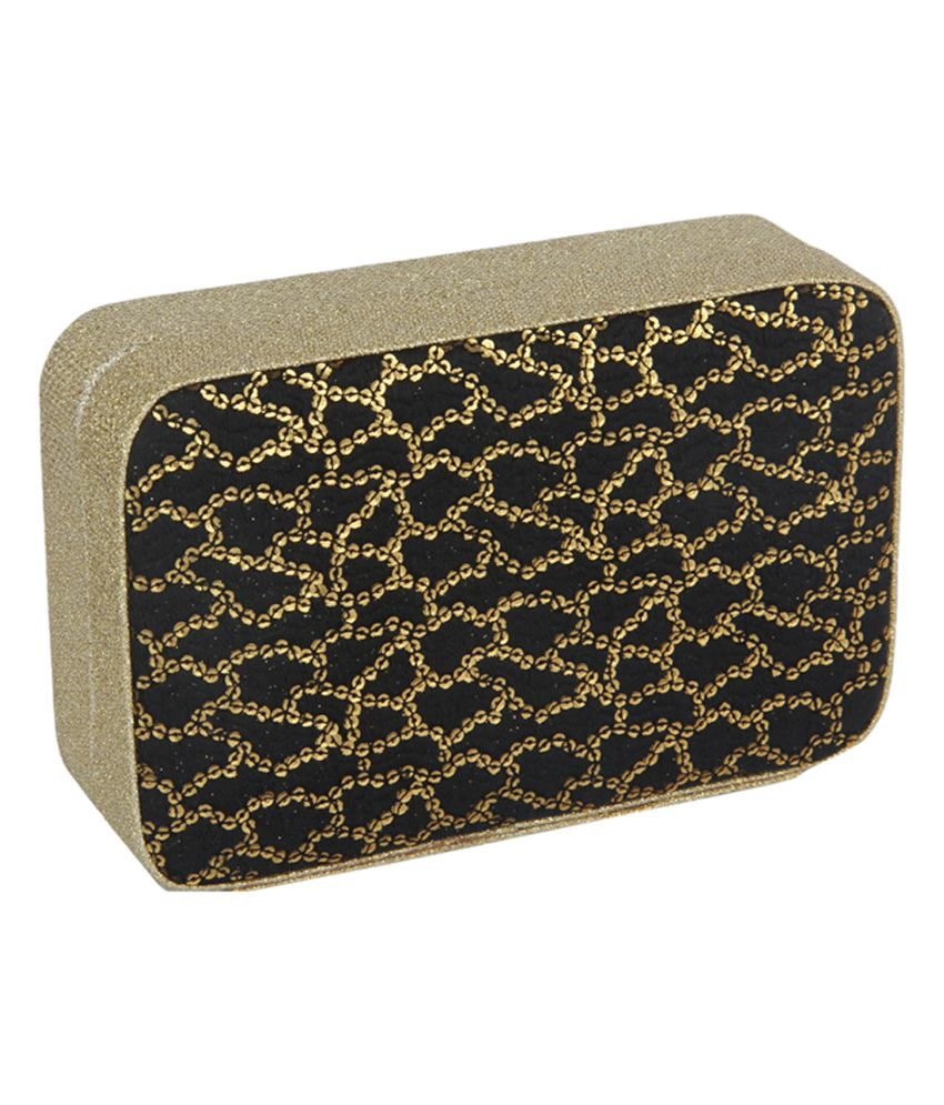 Beautifeel Black Magnit Button Clutch Bag