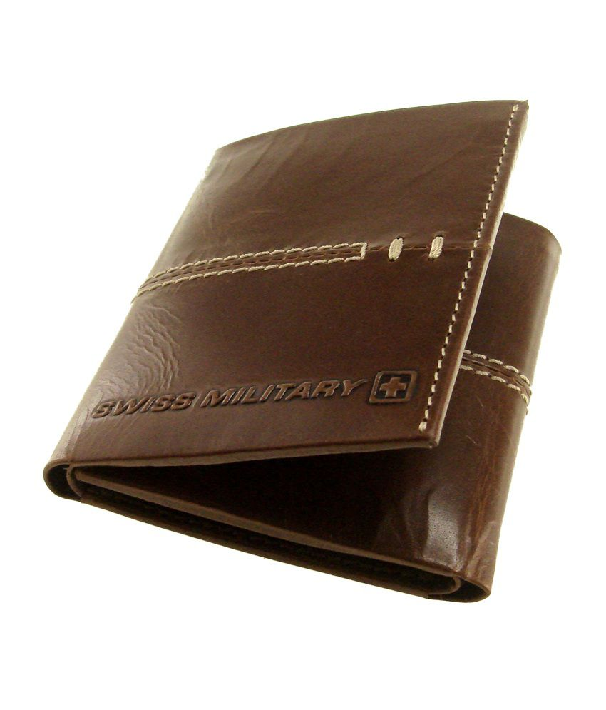 Swiss Military Genuine Leather Men's Wallet: Buy Online at ...