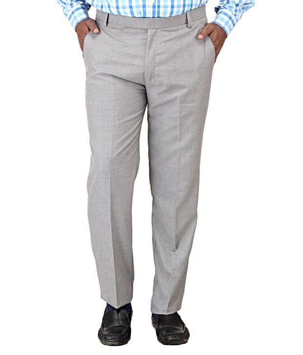 Vangogh Fashion Light Grey Men's Plus Trouser