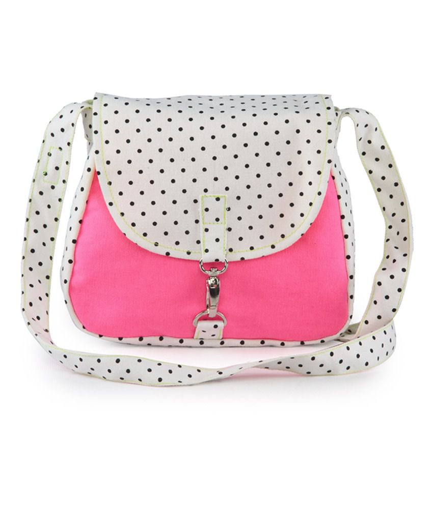 Vivinkaa Pink Canvas Cloth Trendy Sling Bag - Buy Vivinkaa Pink ...