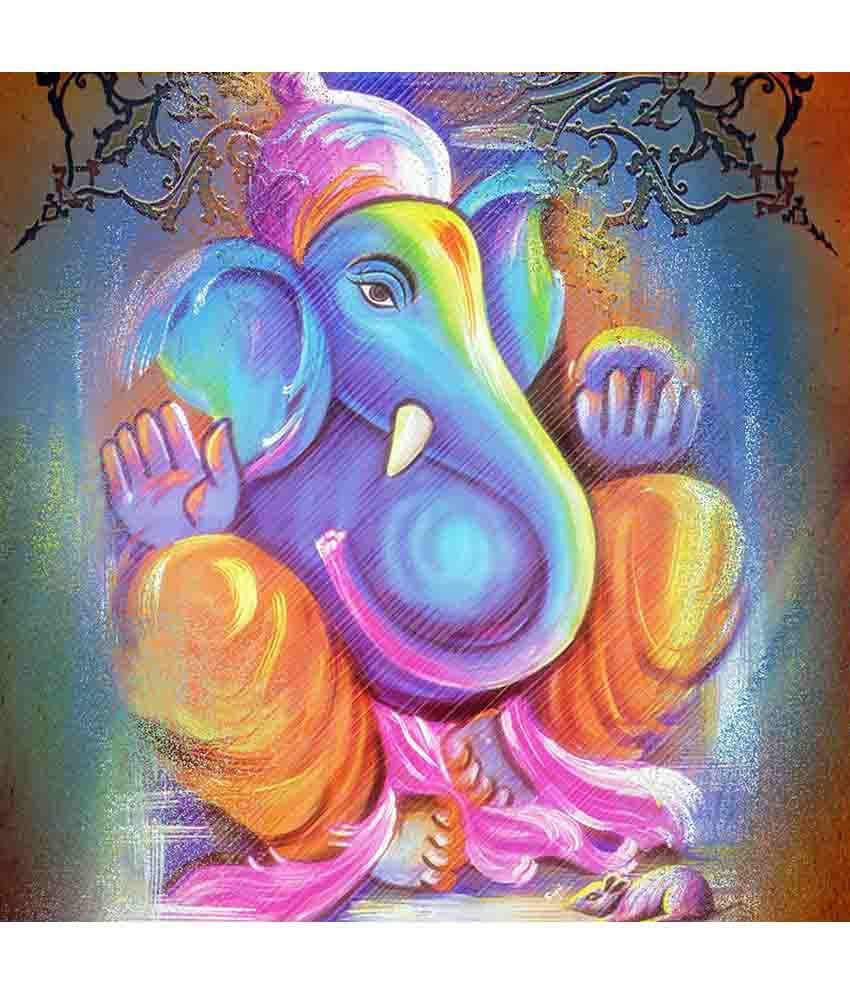 Art Factory Lord Ganesha Canvas Painting Religious ...