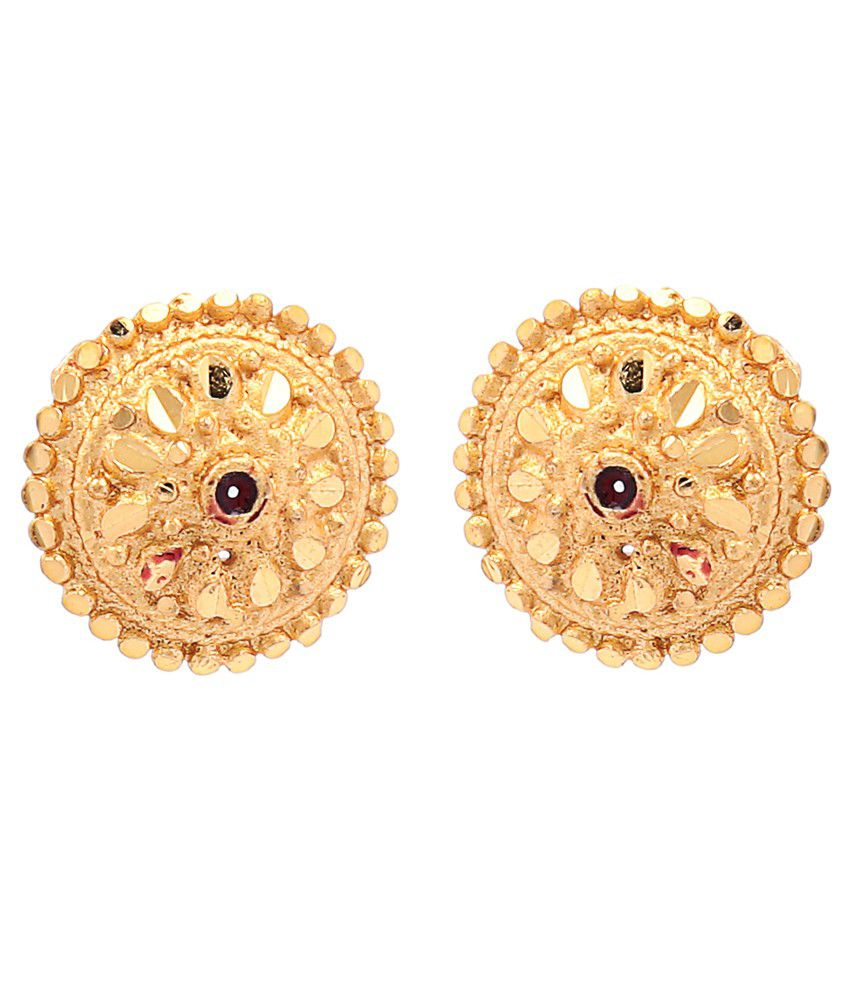 Goldnera Gold Plated South Indian Style Ear Studs