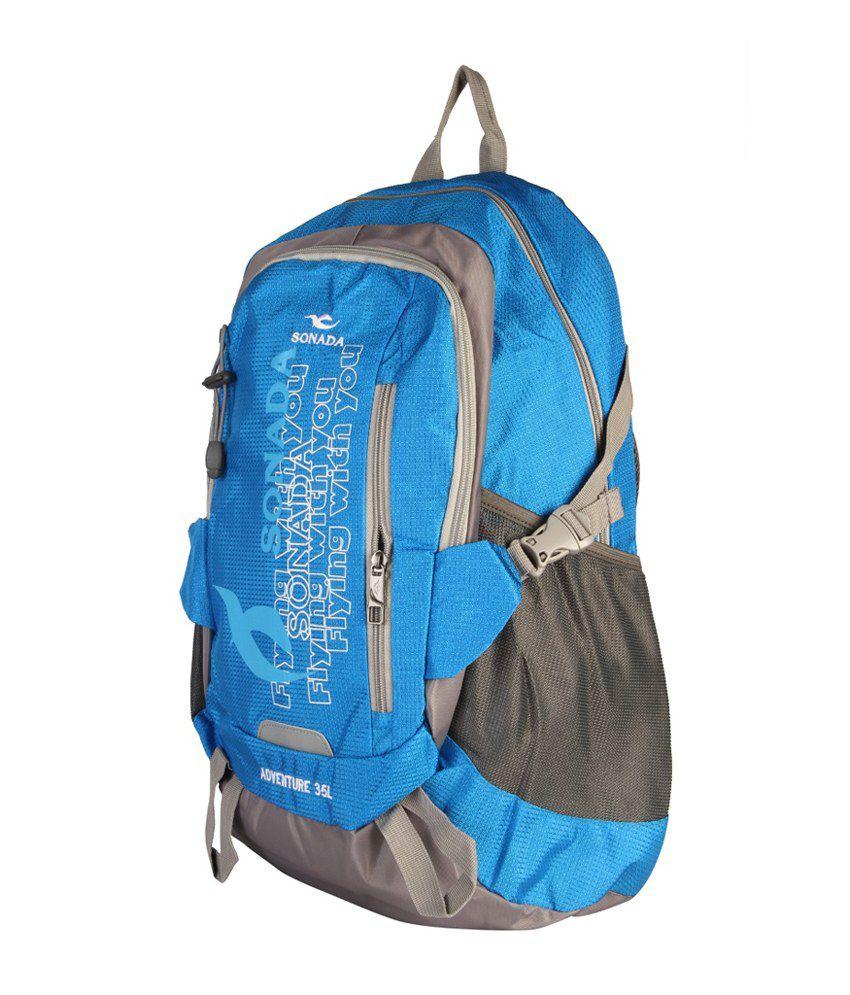 Sonada Blue Laptop Backpack