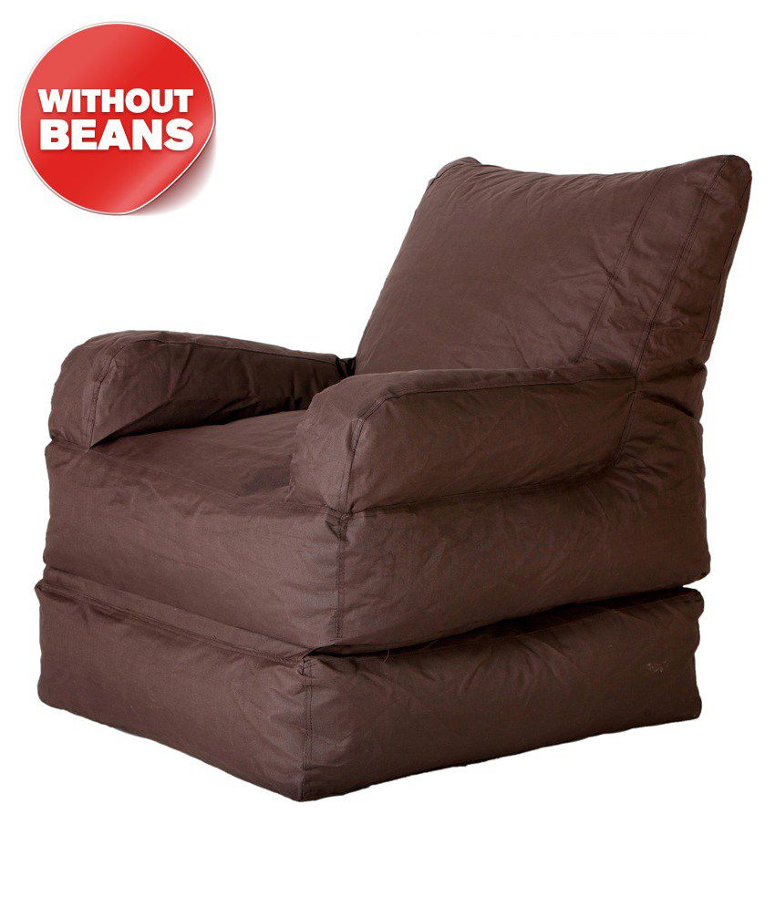 biggie bean bag foldable lounger std size brown only cover buy