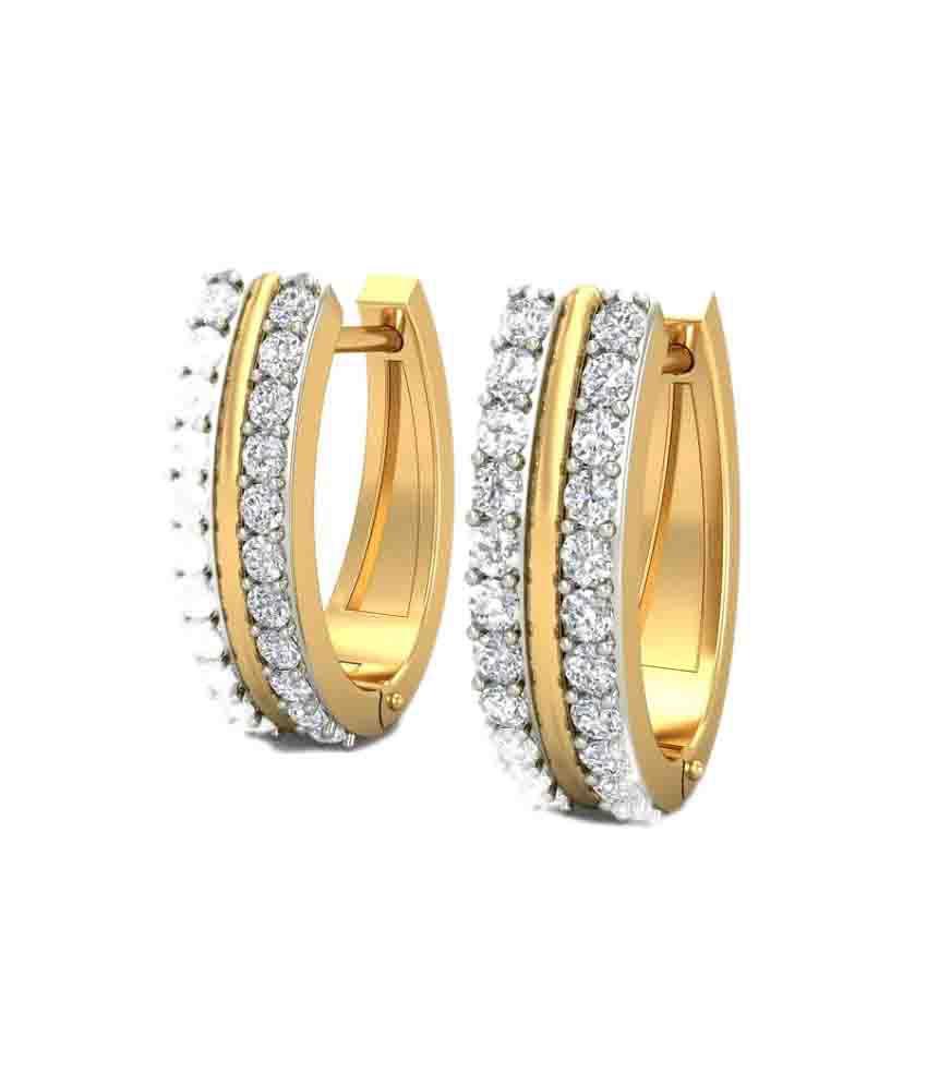 Carat&you 18kt Gold Hoop Earrings