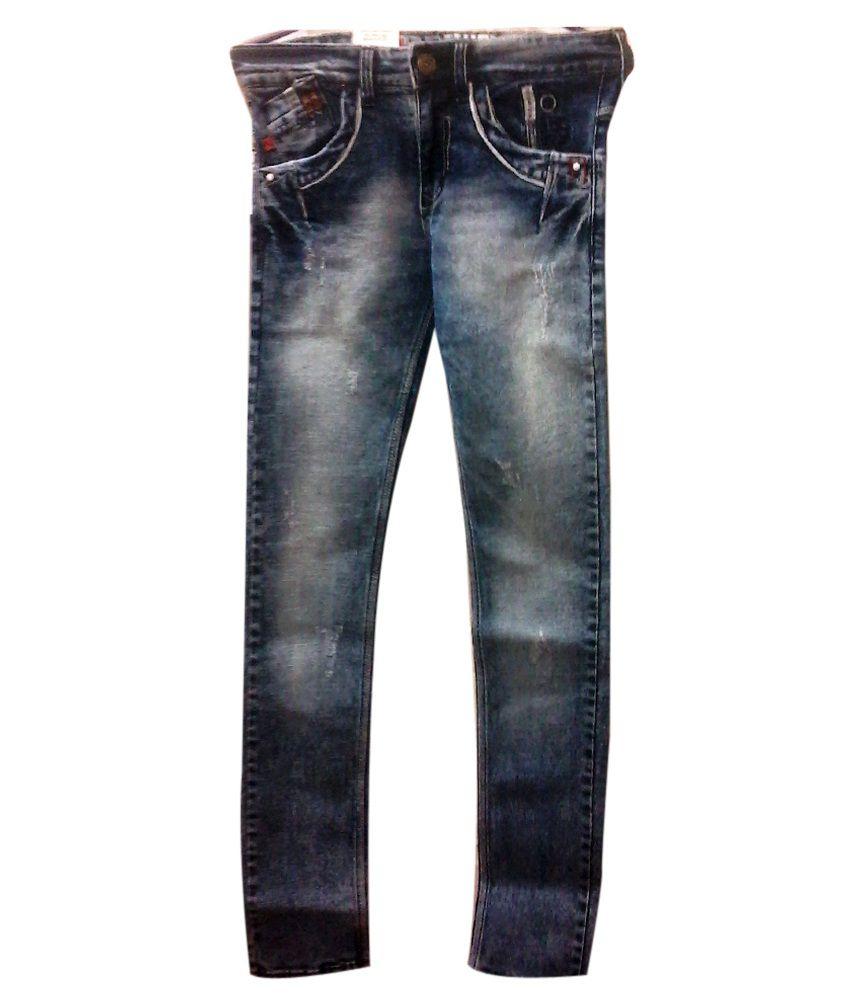 Dharavi Market Blue Denim Jeans