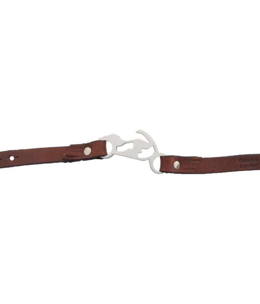 F 'n' F Leather Bracelet For Men