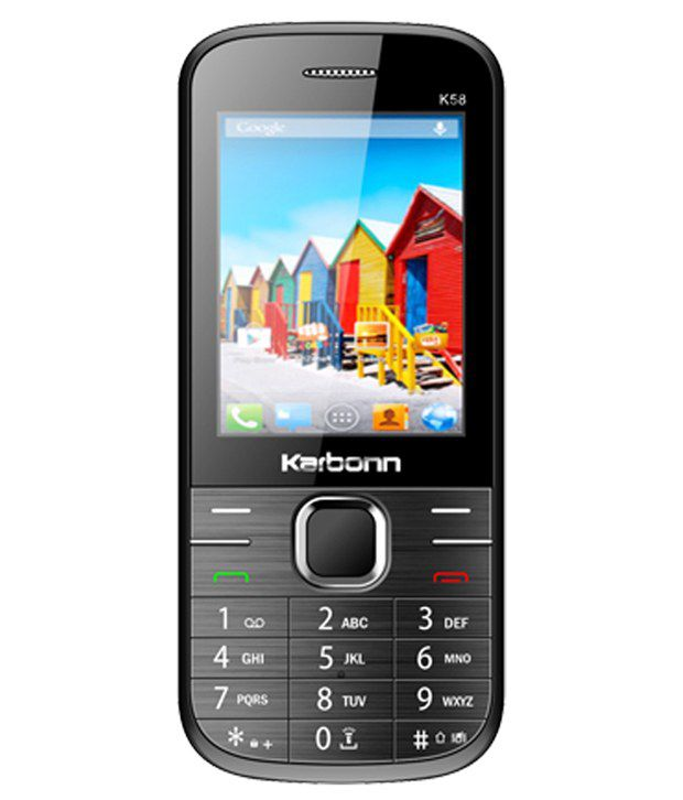 Karrbonn K58 Multi Sim Mobile Phone - Black