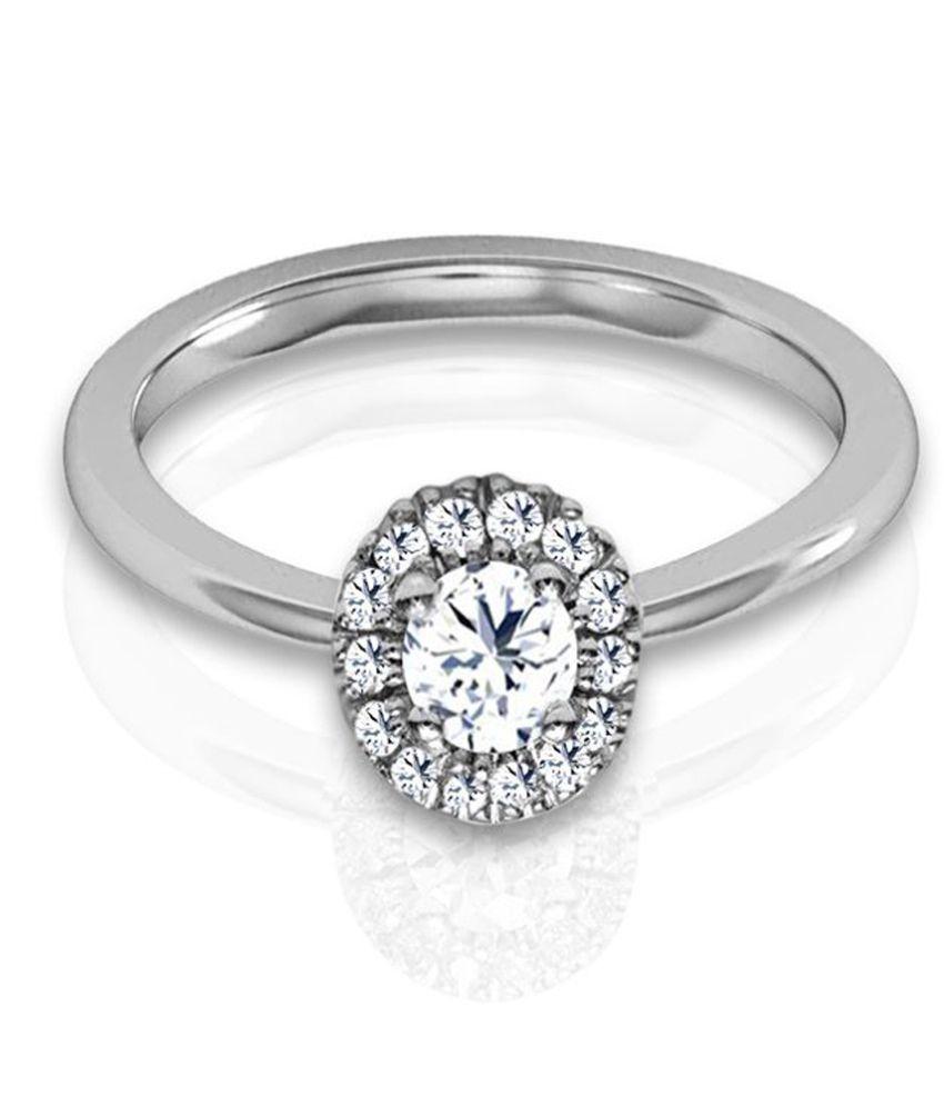 Jacknjewel 0.12 Carat Diamond Silver Beautious Ring