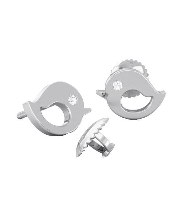 Kreeli 18k White Gold Sparrow Diamond Earrings With D-f Vvs1 Diamond Quality