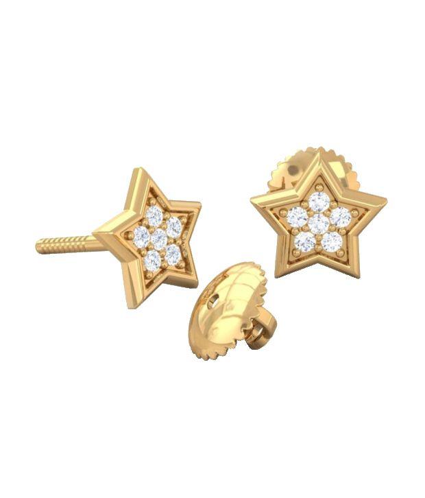 Kreeli 18k Yellow Gold Sitara Diamond Earrings With D-f Vvs1 Diamond Quality