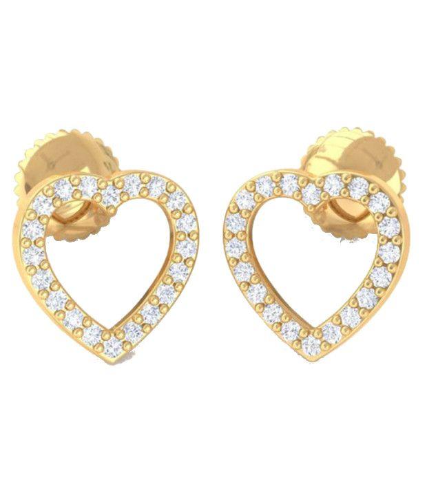 Kreeli 22k Yellow Gold Dil Diamond Earrings With D-f Vs2 Diamond Quality