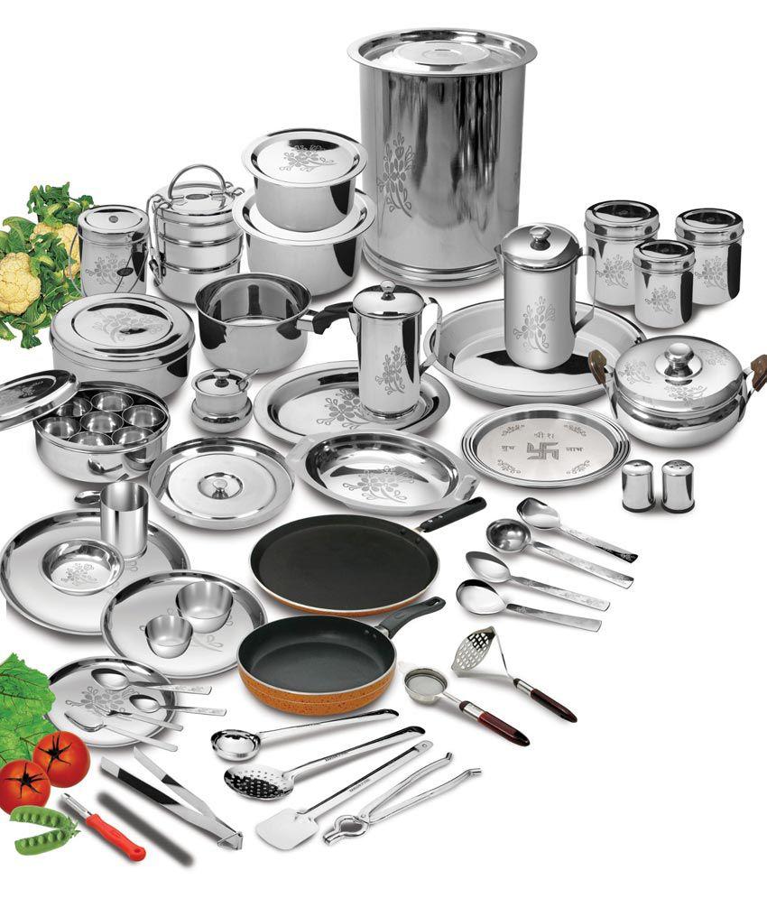 Kitchen Set Steel Bartan