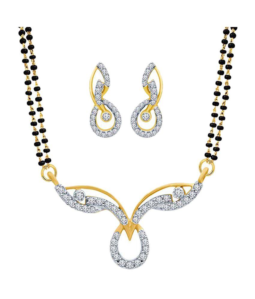 Eldora Fancy Silver & Black Tanmaniya Mangalsutra Set