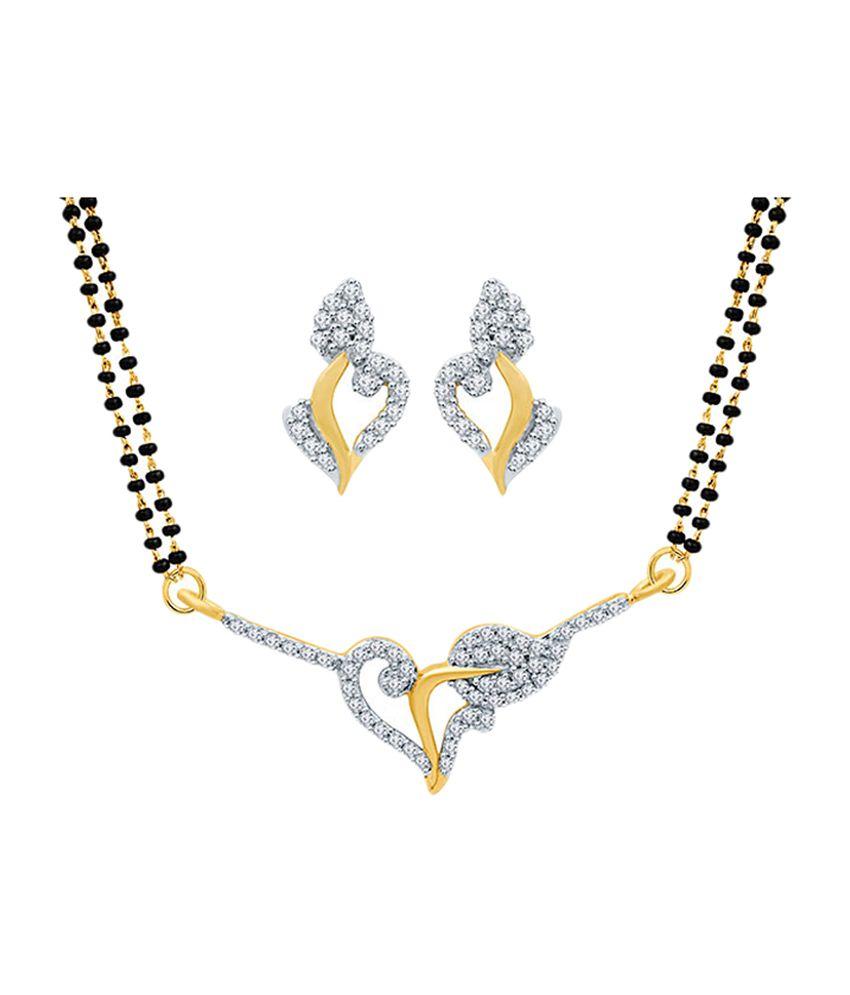 Eldora Lovely Silver & Black Tanmaniya Mangalsutra Set