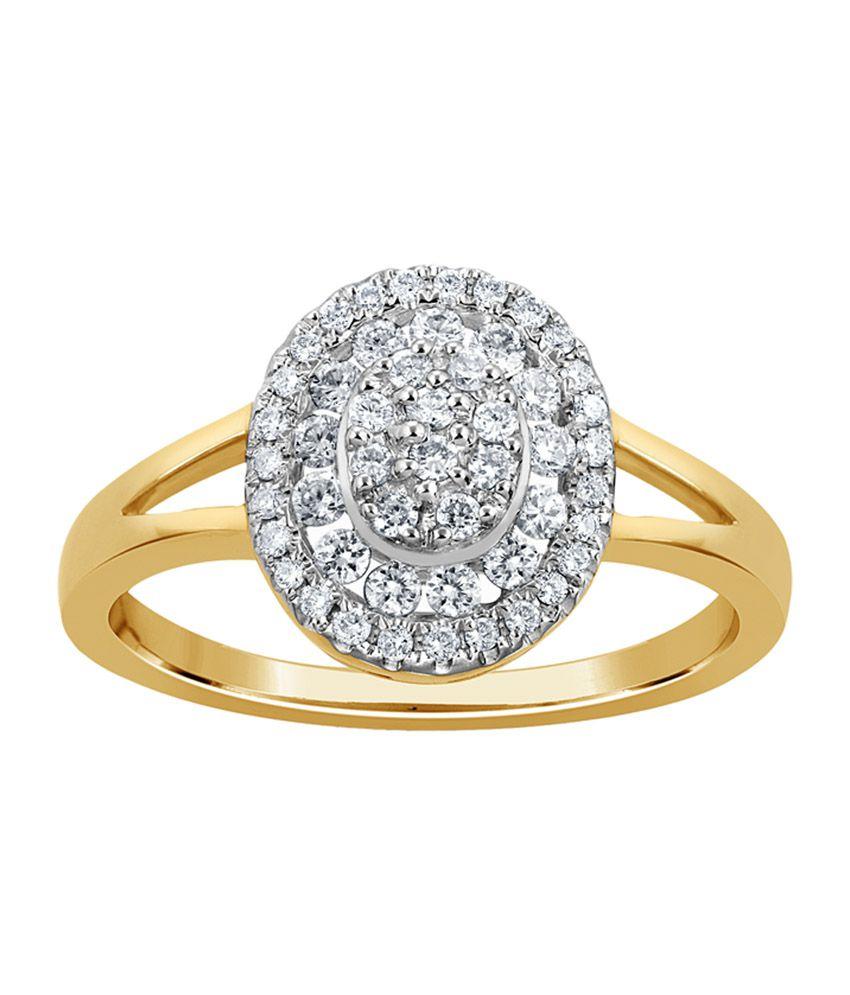 Kama Jewellery Pura Engagement 18kt Gold Ring