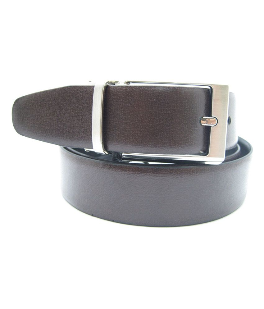 Lustre International Combo Leather Belt for Men - Leather Belt + Leather Keyring + Scarf LI-99 R