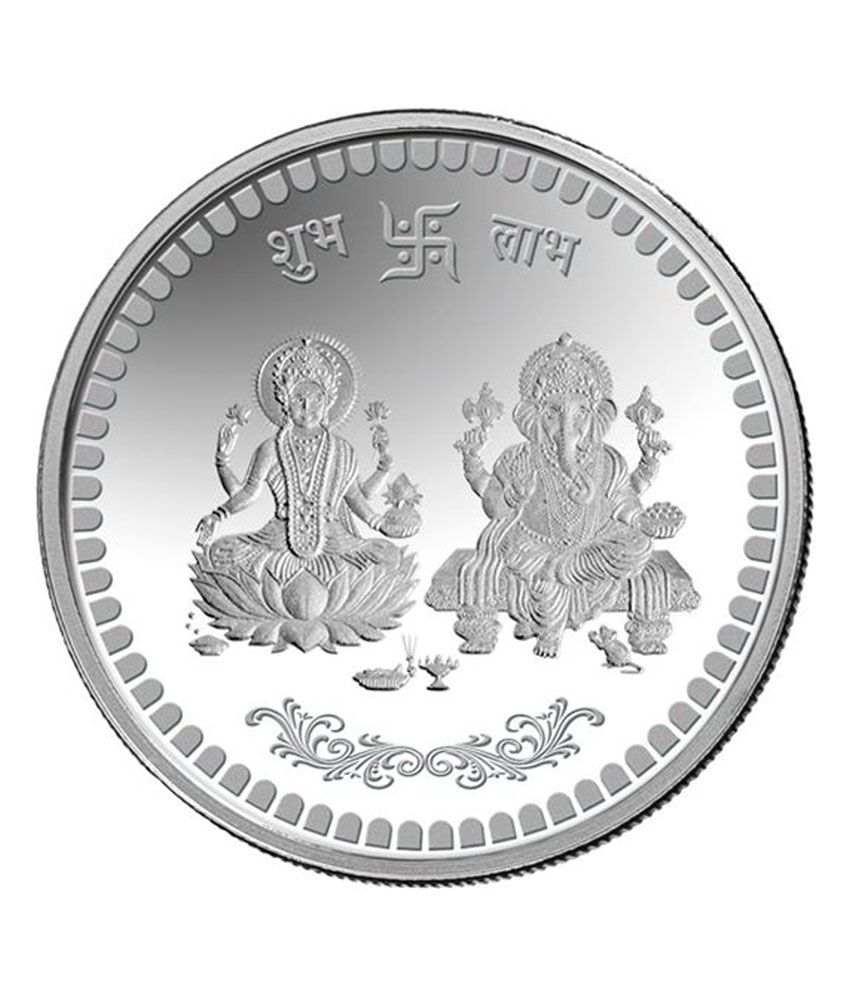 Mmtc Pamp 20 Gms Gganesh Amp Lakshmi Silver Coin Buy Mmtc