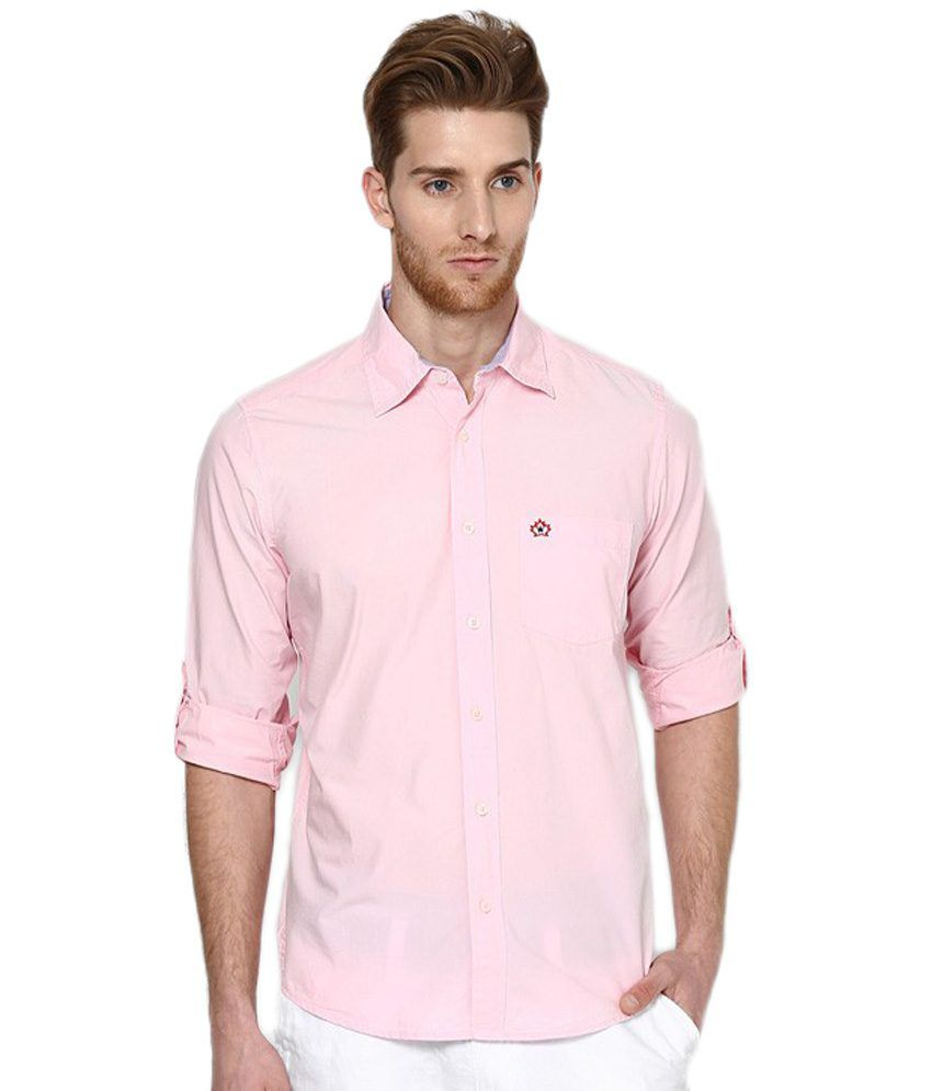 J-Hampstead J Hampstead Pure 100 % Linen Baby Pink Shirting Cloth -1.60 Mts