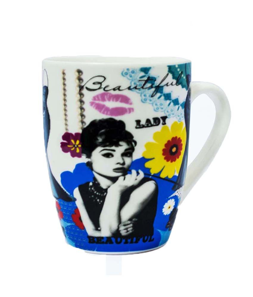 Art Street Audrey Hepburn Fashion Ceremic Coffee Mug