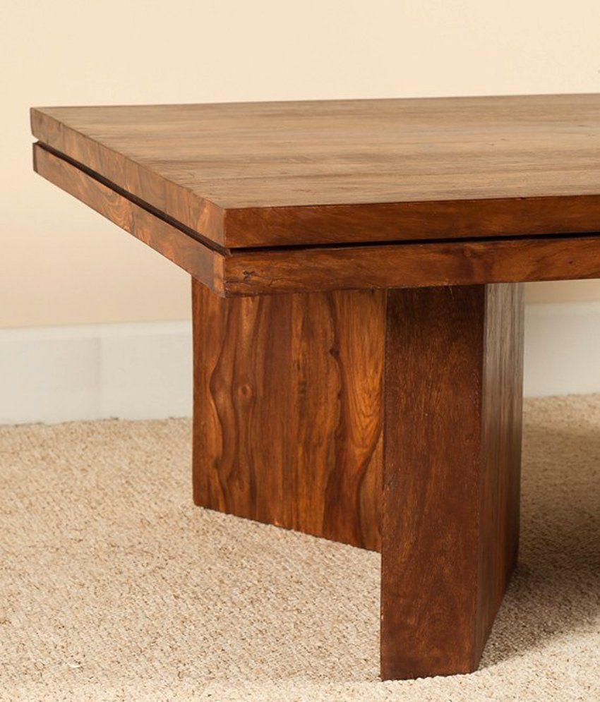 Lifeestyle Sheesham Wood Honey Finish Coffee & Center Table In Brown