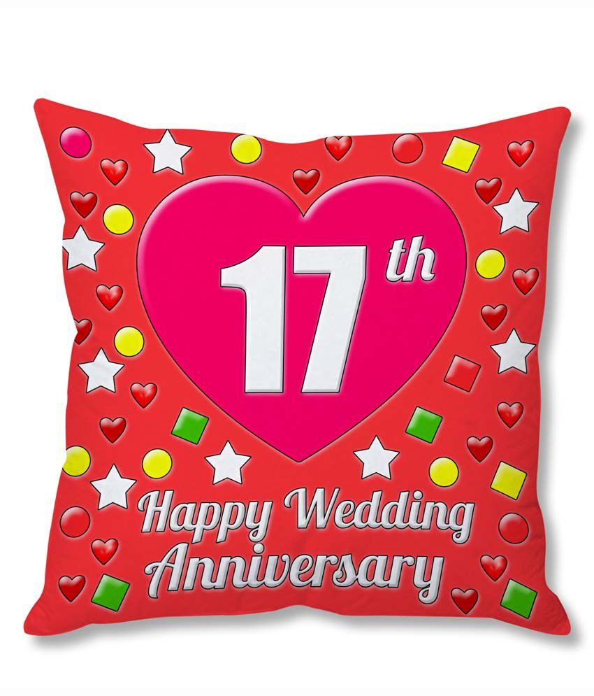 Gift For 17th Wedding Anniversary: Photogiftsindia 17th Wedding Anniversary Cushion Cover