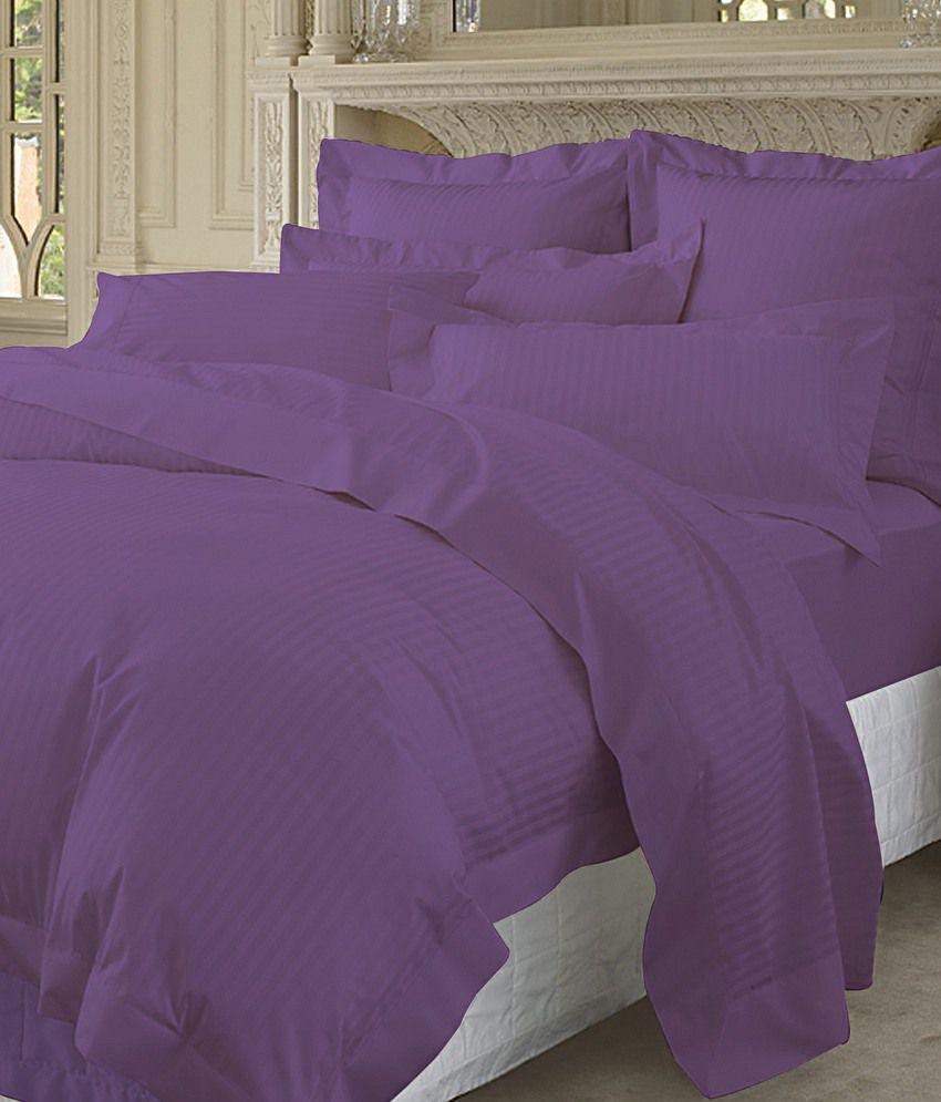 Pima cotton duvet cover 400 thread count stripe king size for Pima cotton comforter
