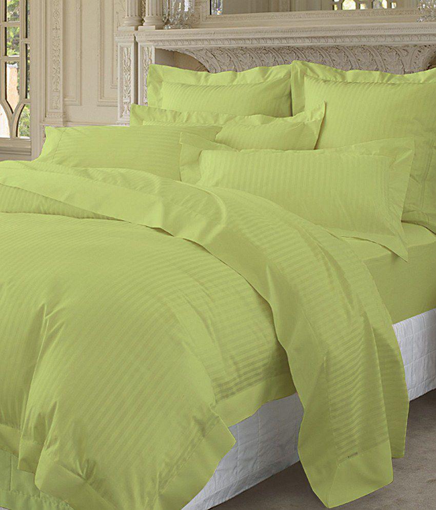 Pima cotton duvet set 400 thread count stripe queen size for Pima cotton comforter