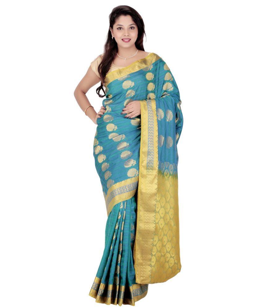Fashiontra Silk Saree With Blouse Piece