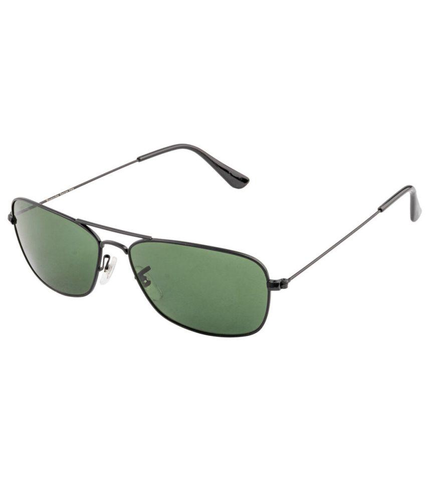 Rivanchy SOC-RV46013-MTBK Black/Green Square Sunglasses