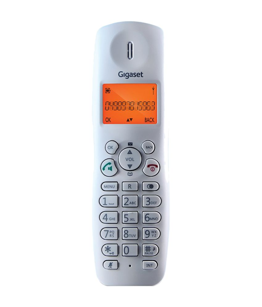 71bfa492013 Buy Gigaset A450 Cordless Landline Phone ( White ) Online at Best ...
