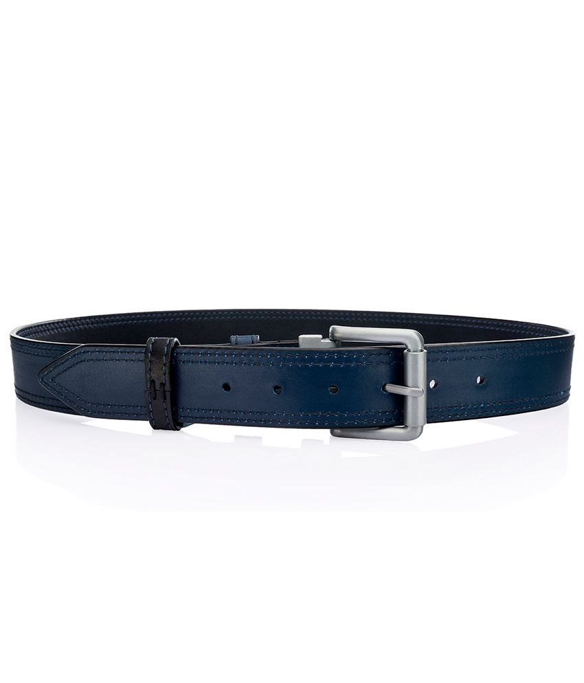 Hidesign Reversible Leather Belt Adrian Black And Blue