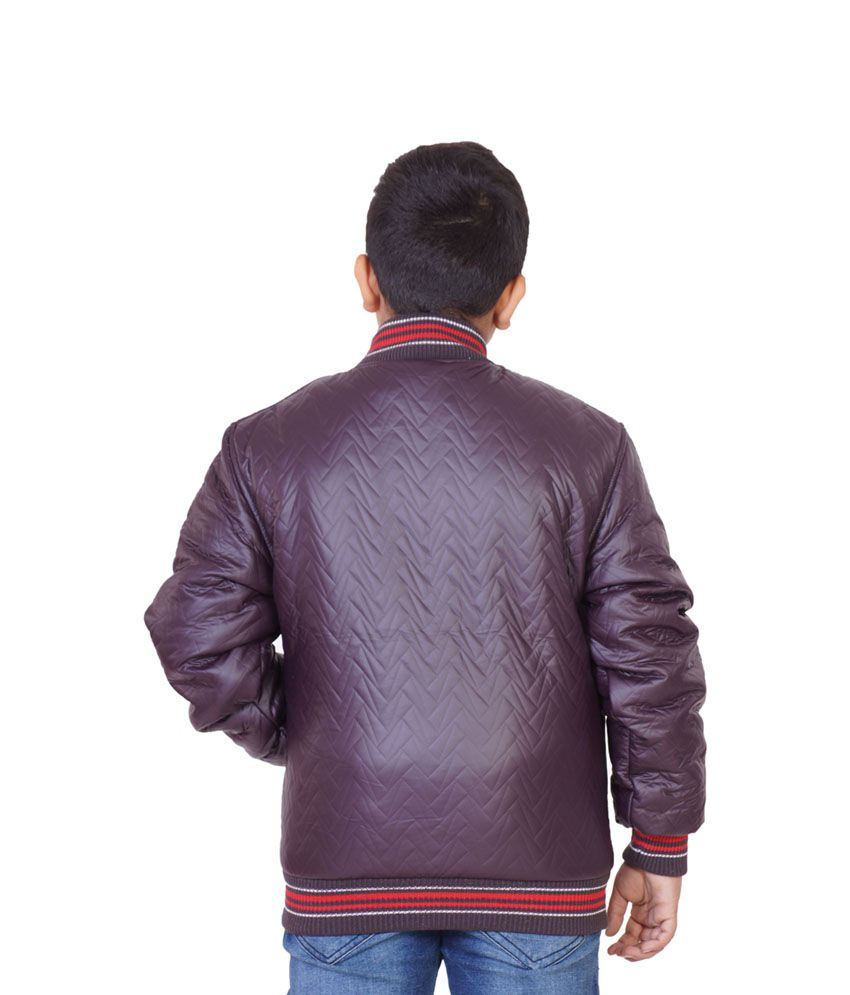 Little Bugs Purple Synthetic Full Sleeve Solid Quilted Jacket ... : purple quilted jacket - Adamdwight.com