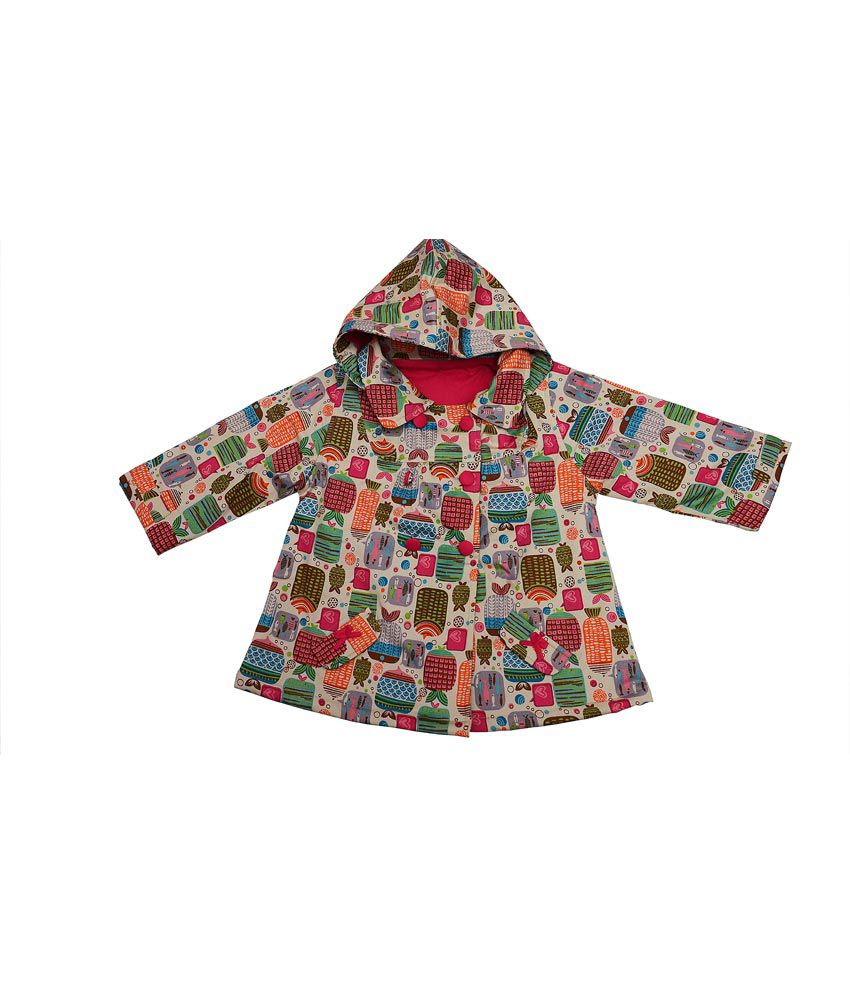 Quest Multicolor Blended Girls Jacket With Hood