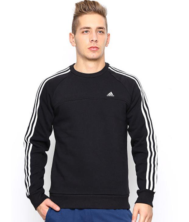 adidas sweatshirt mens black