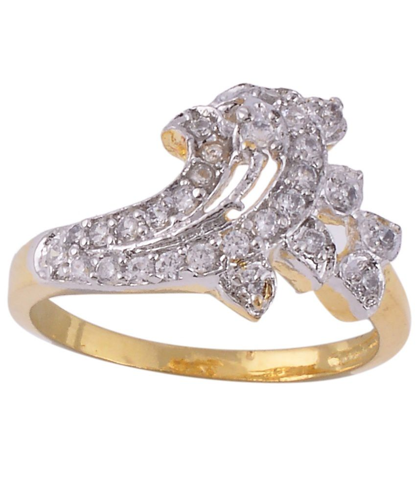 Be You C.z. Diamond Style Gold Plated Ring