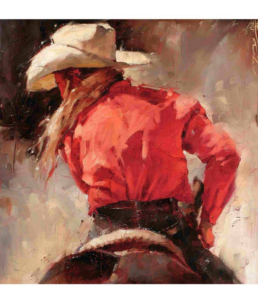 Elite Collection Digitally Printed Frameless Canvas Painting Western-396