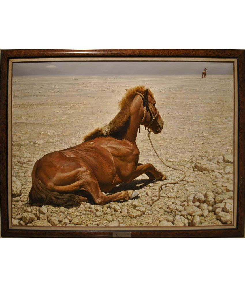 Elite Collection Digitally Printed Frameless Canvas Painting Animal-0094