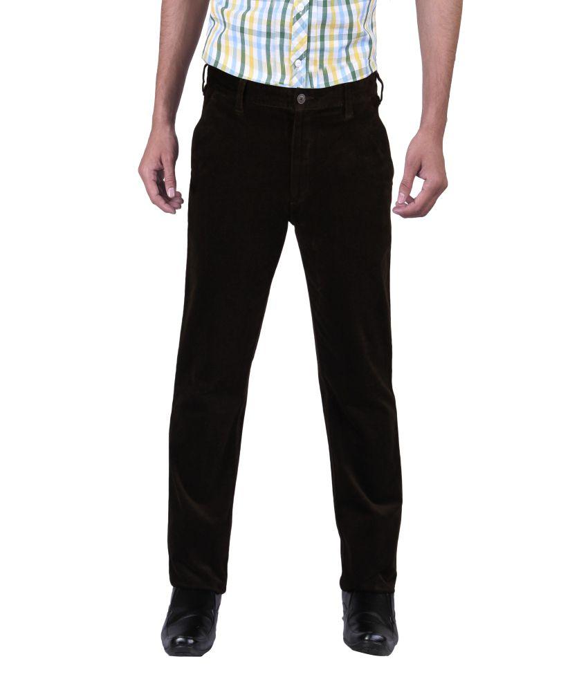 Newyorker Cotton Lycra Trouser For Men