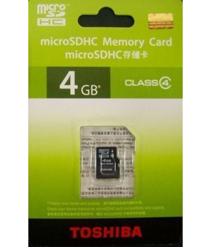 Toshiba Class 4 Micro Sdhc Card - 4gb