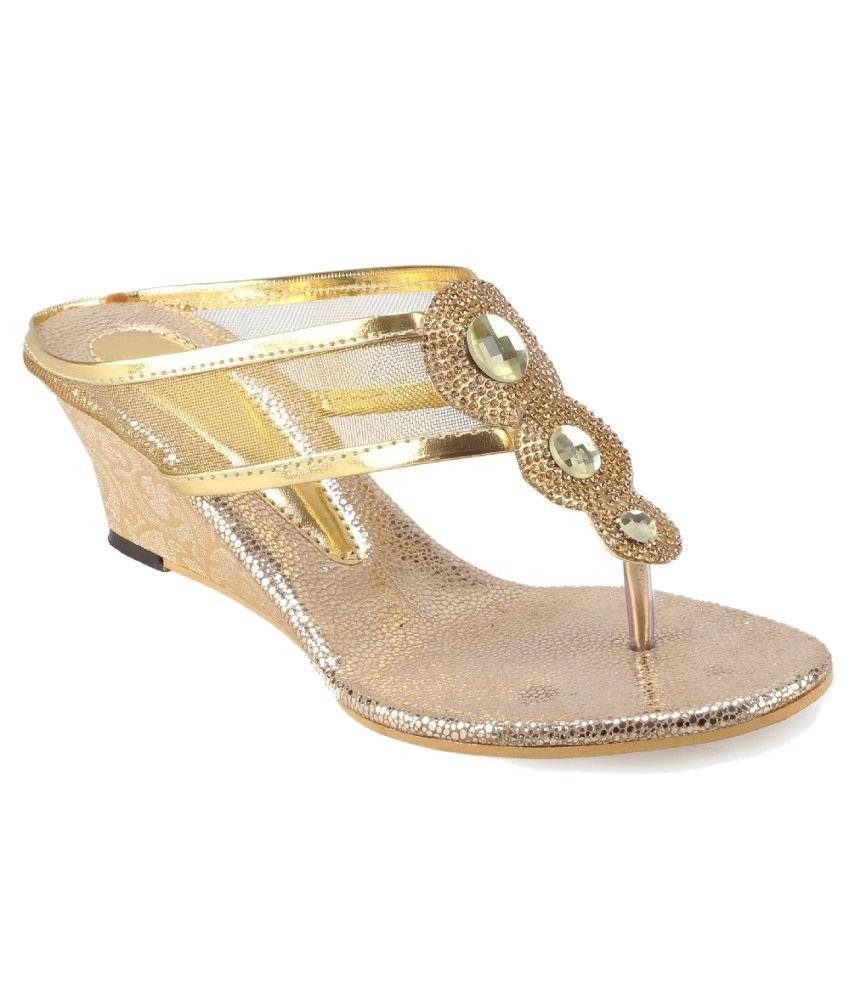 Catbird Gold Heeled Slip-on